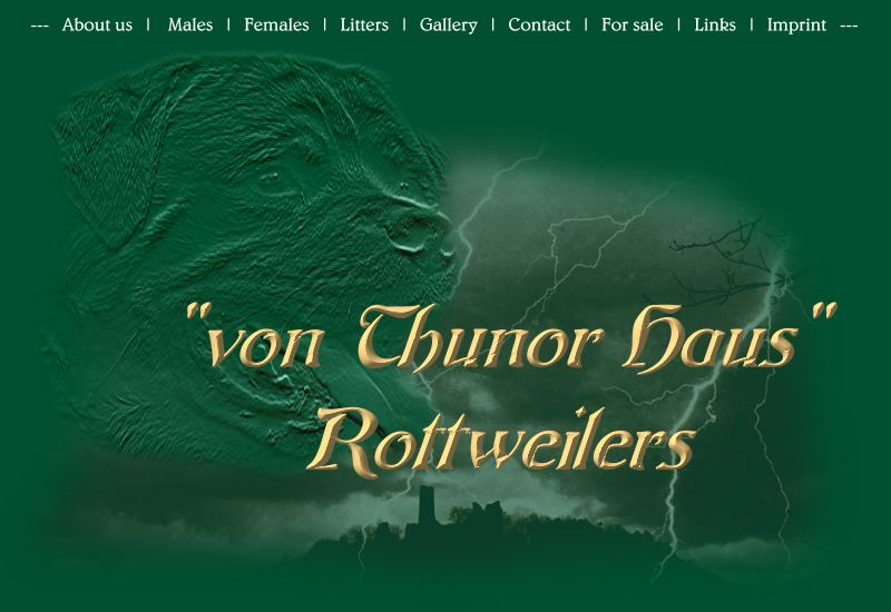 "Welcome at ""Thunor Haus Rottweilers"""